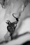 Icesoloing. Climber: T.Meling